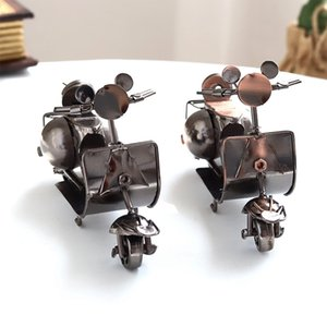 12 X 4X 7.5Cm Creative Nordic Mini Iron Scooter Ornaments Retro Motorcycle Car Home Decoration Accessories Gift Collection Other Home Decor