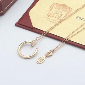 Fashion luxury 2020 new brand designer for women necklace big double ring 18K gold Titanium steel charm necklace Cãrtiêr jewelry