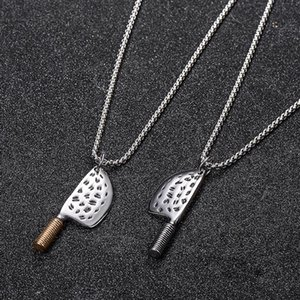 Stainless Steel Kitchen Knife Pendant Necklace Funny Knife Jewelry For Men Women Gift
