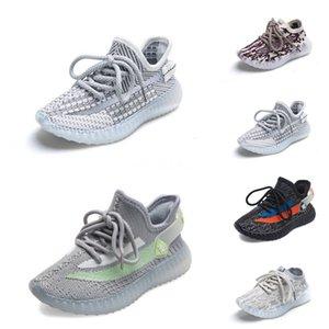 2020 Nueva Fashiony3 Zapatos Casual Botas Kanye West Y-3 Rojo Blanco Negro de alta Top zapatillas de deporte de los niños impermeable de cuero genuino # 566