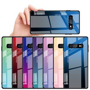 Цвет чехол для Samsung Galaxy S10 S10e S8 S9 Plus Примечание 10 10 Plus A10 A20 A30 A40 A50 A60 A70 Закаленное стекло крышки