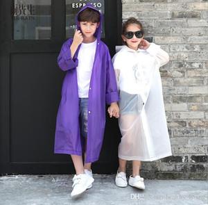 EVA Transparent Fashion Frosted Child Raincoat Girl And Boy Rainwear Outdoor Hiking Travel Rain Coat For Children 666