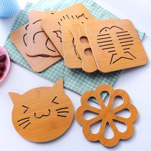 Деревянные Placemat инструменты кухни утолщенной Anti-ошпарить Изоляция Pad Placemat Горшки противоскользящие и сковородки Мат каботажные суда XD23531A
