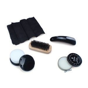 Shoe Shine Kit Professional Shoe Care for all Leather Suede Boots with Shoe Polish Buffing Cloth Travel Case