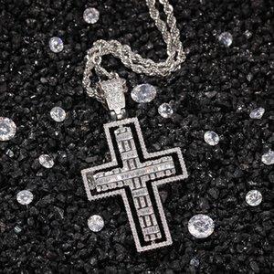 2020 Hip hop twist cruciform pendant necklace designer stylish men and women zircon pendant accessories wholesale