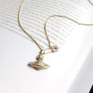 925 spilla d'argento Planet zircone collana in oro creatività collana pianeta squisito per le donne gioielli multa