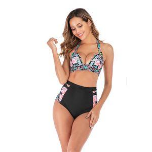 2020 New Summer Women'S Fashion Accessories Bikini Underwear Swimwear Plus Swimming Suit Patchwork Beachwear Lady Swimsuit#501