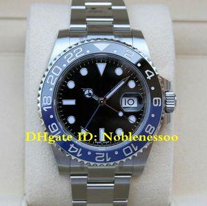 12 Stil Klasik erkek 40mm GMT II Batman Siyah Arama Mavi / Siyah Seramik Çerçeve 116710blnr 116710 126715 126711 116718 Asia 2813 Mens İzle