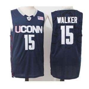 Männer NCAA Uconn Huskies College Trikots Kemba Walker Sue Bird 3 Diana Taurasi 30 Breanna Stewart Ray Allen Moore Weiß NAVY Basketballtrikot