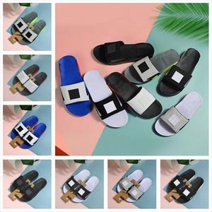 (Popular) Sandali a piedi per donne degli uomini 90 di slittamento di alta qualità del progettista pantofole 7 colori Casual Flip Flop pantofole Estate scarpe di misura 36-45