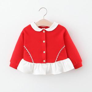 DFXD мода весна детская куртка пальто новый корейский дети девушка с длинным рукавом однобортный кардиган малыш девушка одежда 6 м-3 Т