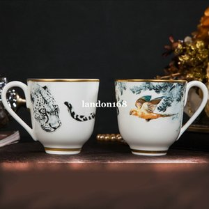 High-end Ceramic mugs Bone china coffee cup sets Animal pattern breakfast cup Afternoon tea cup Porcelain couple cups Birthday Present