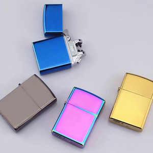 고품질 전기 플라즈마 아크 라이터를 두 번 호의 USB 충전 금속 방풍 라이터 펄스 금 실버 블루 블랙 A20825