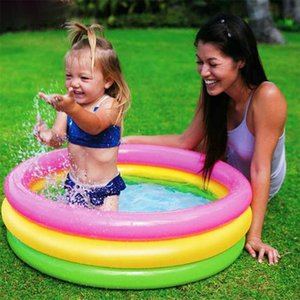 Aquarium Swimming Pool Set Baby Inflatable Swimming Pool Toy Summer Household Colorful Water Play Backyard Toy Baby Ocean Ball