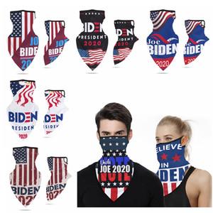Mascarilla de Joe Biden Trump con gancho para la oreja al aire libre Ciclismo Montar máscara a prueba de polvo Hombres Mujeres Máscaras Elección Suministros de América HHA1350