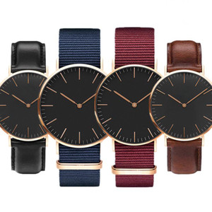 Saatler Erkekler Bayan Erkekler Spor Saatler erkek 40mm Bayan 36mm Kuvars Saat Adam Rahat Askeri Su Geçirmez Bilek İzle Relogio Feminino Relojes