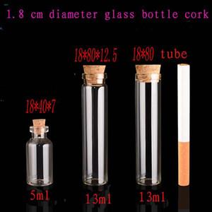 Frascos de vidrio transparente de 500pcs / lot 5 m 13 ml tubo con enchufe de madera tipo largo frasco de vidrio, botellas de vidrio para regalo