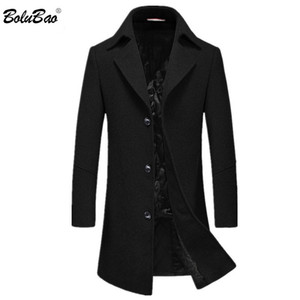 BOLUBAO Men Winter Wool Coat 2019 Men 's Simple (High) 저 (Quality Wool Wool Blends Woolen Pea Coat 남성 트렌치 캐주얼 외투