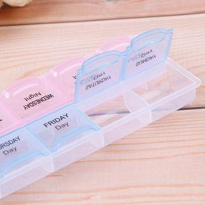 7 Day AM PM Organizer Schedule Plastic 21.5*6.5*2.5cm Weekly Storage Case Week Planner Pill Box Easy Open Medicine Tablet Dispenser