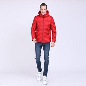 TALIFECK 2019 Primavera Homens Jaquetas Casuais Moda Outerwear Casacos dos homens Masculinos Roupas de Marca de Poliéster Frete Grátis Sólido Vermelho