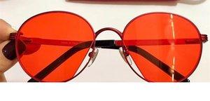 Lusso 0222 dell'obiettivo di protezione degli occhiali da sole per le donne di disegno di marca di modo popolare estate rotonda di stile superiore UV viene con l'imballaggio