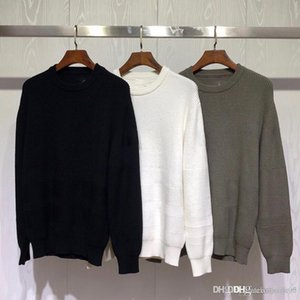 New casual men's designer sweatshirt classic ribbed badge stitching pullover sweater hot fashion street trend round neck sweater