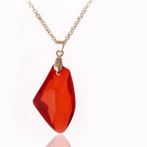The Sorcerer's Stone Necklace Red Philosophers Stone Colgantes para Mujeres Hombres Fans Joyas de moda