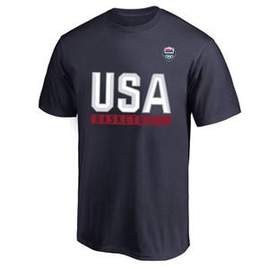 2019 Basketball World Cup USA Männer Basketball-Nationalmannschaft T-Shirt Amerika Grafik Tees Fans Tops die Vereinigten Staaten Shirts Printed Logo