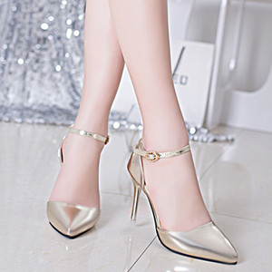 2019 New Arrivals Gold & Silver Patent Leather Women High Heels Shoes Fashion Red Bottoms Pumps Pointed Toe Sexy Party Shoes Ks520