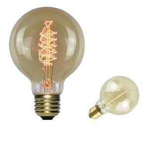 Crestech la bombilla de lámpara de filamento para el hogar decoración del restaurante de E26 G80 40W AC110V 64A caliente White1800-2200K