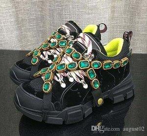 Zapatillas de deporte FlashTrek con cristales desmontables, de piel suela de Montaña Botas y zapatos casuales de las mujeres netas de excursión los zapatos multicolor 11