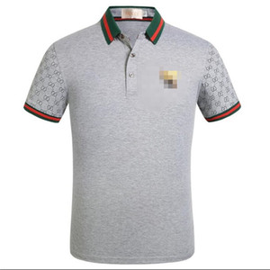 Brand New High Street Fashion polos Luxus-Designer-Herren lässige Männer Polo Stickerei Biene Schlange Polo-T-Shirts