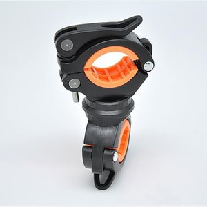 Rotation Bicycle Bike Flashlight Torch Clamp Air Pump Clip Holder Non-slip