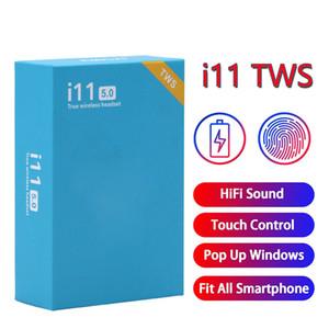 i11 de control TWS táctil Auricular Bluetooth 5.0 auriculares Auriculares Auriculares inalámbricos Mini Auriculares de los deportes con la ventana pop-up i11tws auricular