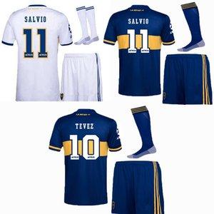 2020 2021 Boca Juniors أطفال كرة القدم الفانيلة مجموعات رياضية 20 21 تيفيز كارليتوس مارادونا دي روسي لكرة القدم قميص + شورت الأولاد مع الجوارب