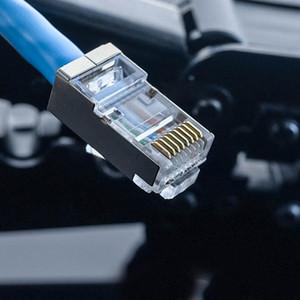 200 PCs RJ45 fişler Konnektörler için cat5 Cat6 Ağ kablosu 23AWG Kristal kafa 8 hattı yuvası RJ11 RJ12 fişler Konnektörler için telefon kablosu