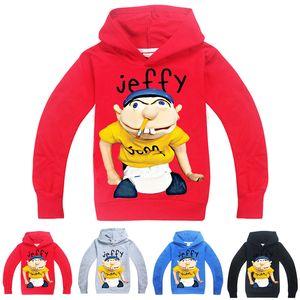 sml Jeffy crianças impressas Hoodies 6-14T Crianças Meninos dos desenhos animados Imprimir hoodies camisolas 115-165cm Crianças roupas de grife Meninos Atacado FSS384