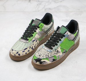 New 1 Low Designer Shoes City Of Dreams Chicago Running Shoes Snake Pattern Camouflage Beast Style Pattern Stitching 3M Reflective