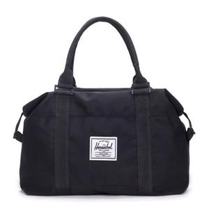Recorrido de la lona capacidad grande del bolso de los hombres de la mano del recorrido del equipaje Duffle Bolsas Bolsas fin de semana Nylon Mujeres multifuncionales