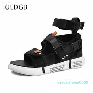 KJEDGB Nuevo 2019 para hombre de moda de verano los zapatos de las sandalias gladiador diseñadores Plataforma cómodo sandalias de playa masculino lona de los hombres c09