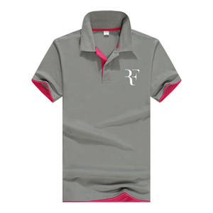 Summer Fashion Roger Federer Perfect Logo Printed Polo Rf New Men High Quality Social Polo Shirts Polo Shirt For Women And Mens' Q190426