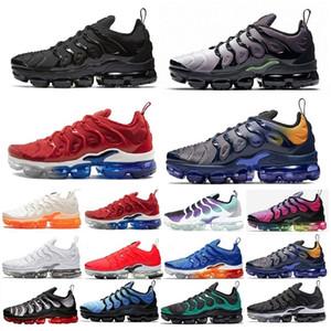 Nike Air TN Plus toptan Eğitmenler Erkekler Metalik Tasarımcı Beyaz Spor Spor Ayakkabılar içinde tn Artı Koşu Ayakkabı Kadınlar Kraliyet Smokey Leylak Dize colorways Zeytin tepki