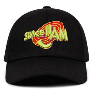 Film Space Jam-Vati-Hut Mode Curved Chapeau Casquette Baseballmütze Marke Spacejam Snapback Hip Hop Knochen Männer Frauen