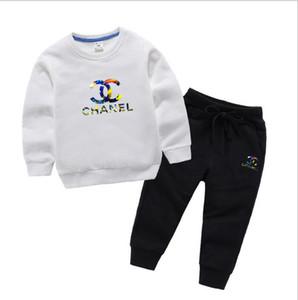 2020 Designer Marcas do bebê da mola roupa do outono Define Crianças Boy Girl Top Pants 2 PCS dos ternos Outfits 3-8 anos Traje pour enfants
