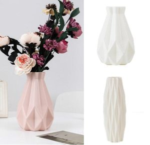 Flower Vase Decoration Home Plastic Vase White Imitation Ceramic Flower Pot Flower Basket Nordic Decoration Vases for Flowers
