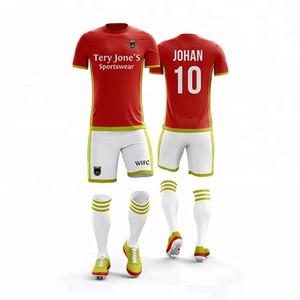 2019 Adult Kids Soccer Jersey Set Football Kit Hommes enfant Blank Futbol Uniformes de Formation set De Foot shorts DIY jersey