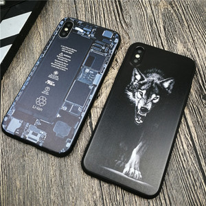 fashion Wolf soft for iphone 11 pro x xs max xr 8 7 6 6s plus phone cover matte silicone Cartoon coque