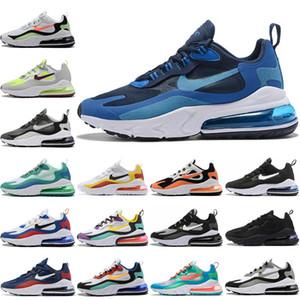 Nike Air Max 270 React 2020 New Style Reagir Nightlight impermeáveis Running Shoes Reagir airmattress absorção de choque Casual Sneakers EUR 36-45
