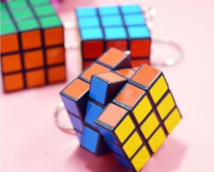 Gioco di magia magia Piazza portachiavi formazione imparare gioco cubo giocattoli buoni regalo chiave Mini Magic Cube Puzzle portachiavi