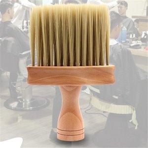 Nouveau visage de la santé du cou Salon Duster brosse de nettoyage des cheveux de balayage en bois Nettoyant Pinceau Cheveux coiffure Cut Brosse à cheveux balayage Outils peigne